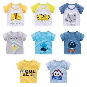 Shirt Tee-Tops Infant Baby-Boys Cotton Cartoon Summer Short-Sleeve Print Casual Kids