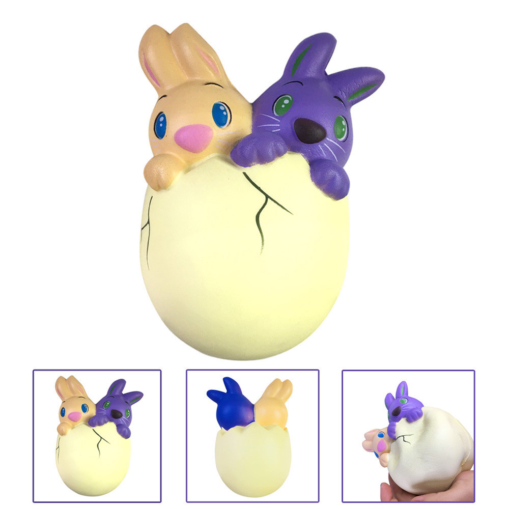 Funny Novelty toy 15cm SquishyJunbo Easter Bunny Egg Scented Slow Rising Squeeze Collect Easter Kids Toy Gift@20