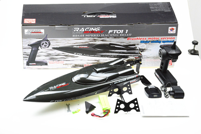 F18144 Feilun FT011 65CM Brushless Water Cooling High Speed Racing Boat RTR 2.4GHz RC Speedboat цена