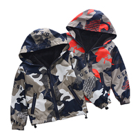 New Small Kids Camouflage Jacket Children's Clothing Military Uniform Boys Velvet Warm Casual Hooded Coat Fatigue Outerwear B106