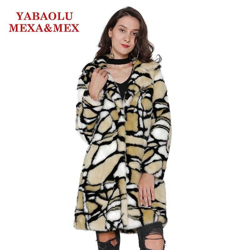 Vêtements Fourrure Faux Manteau Femmes Hiver Multi De Pardessus Mode Causalité Vison Long Survêtement Femelle Vestes wqHwOBE