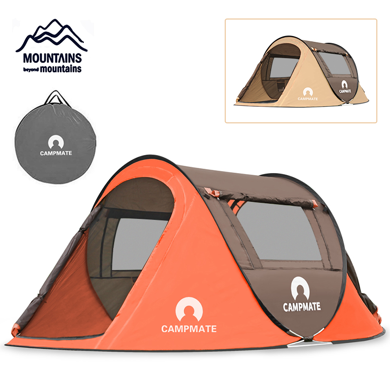 Outdoor 2 3 People Camping Tent Large Space Waterproof Pop up Tent Backpack Family Tent