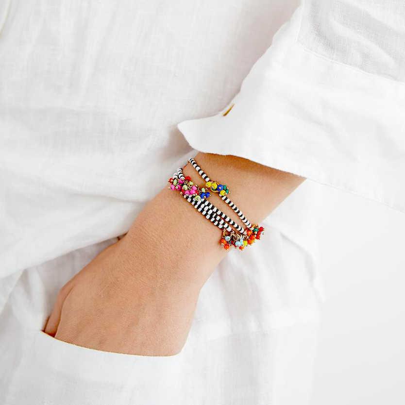 Vsco phong cách Hàn Quốc BIJOUX Femme collier cổ accesorios mujer Nữ Mặt Dây chuyền Wicca Hạt Đính Hạt Vòng Cổ dài trang sức
