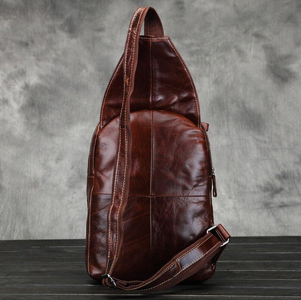 genuíno bolsa do homensageiro do Formato : Triangle