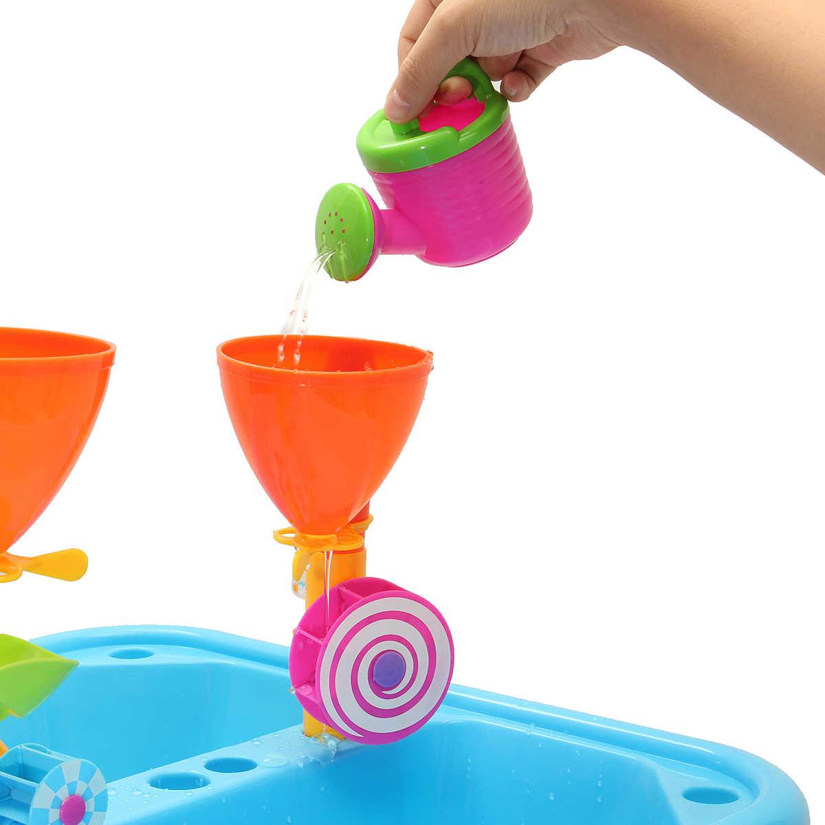 23 шт./компл. игрушки для песочницы нетоксичные пластиковые дети открытый песок и вода дети подвижная игра стол песочница игрушка набор Многоцветный