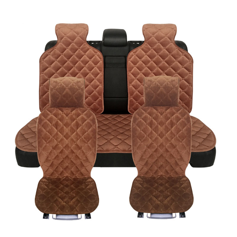 new 1set plush car seat covers,4 colours,Material High Quality Velvet,Universal size Front Back Seat Covers for car passat b5