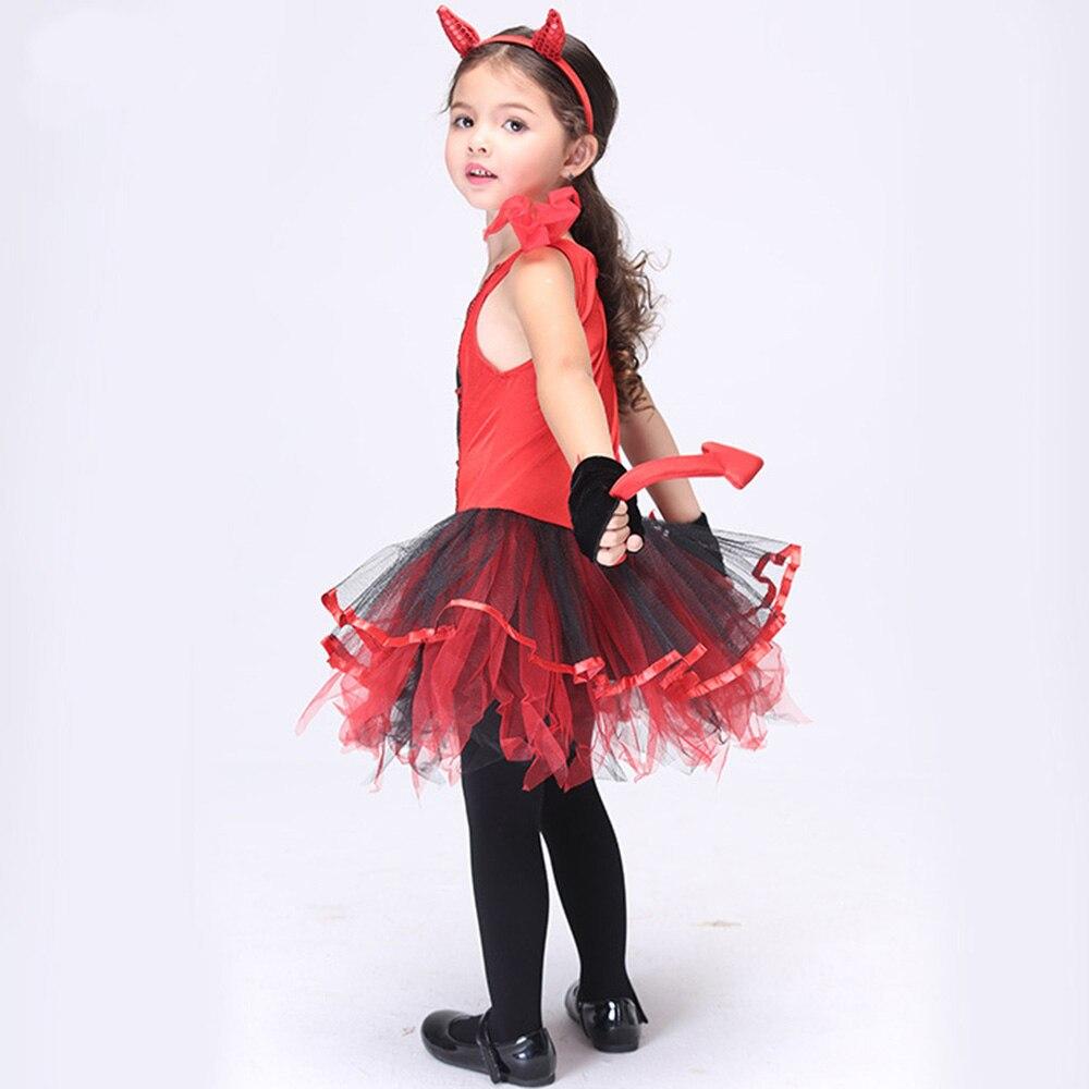 2017 Halloween Katze Mädchen Cosplay Kleidung Set Kinder Karneval ...