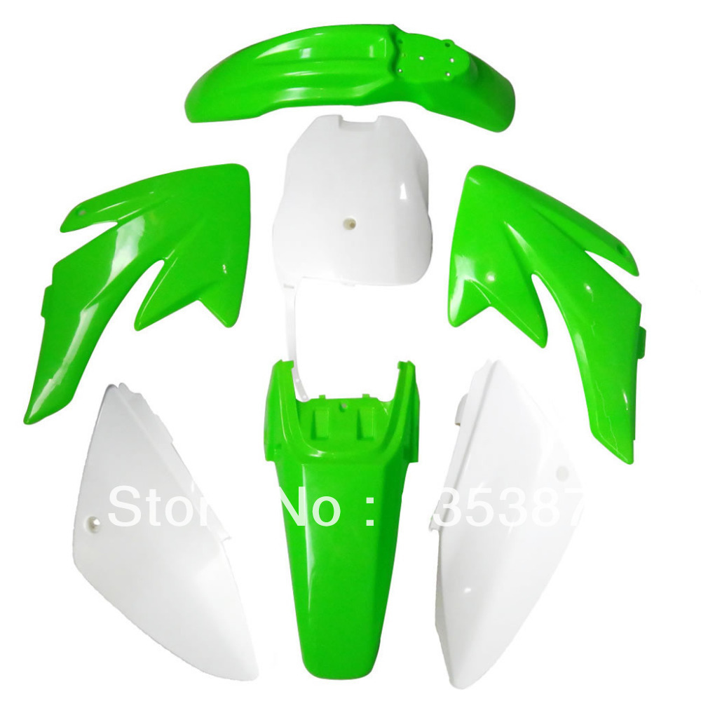 Motorcycle Dirt Bike Body Plastic Fender For  70 CRF70 CRF 4+3 Gre+White AZ265 fender pro fender cxa1 ie mic 3 button white