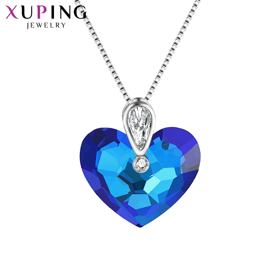 Xuping Fashion Pendant Necklaces Heart Shaped Crystals from Swarovski Charms Styles Pendant for Women Gift M67 40164