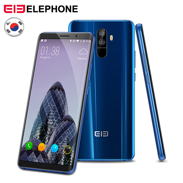 Elephone U Pro Cell Phone 5.99 Inch Android 8.0 Qualcomm Snapdragon 660 6GB RAM 128GB ROM 13MP Dual RearCam 4G LTE mobile Phone