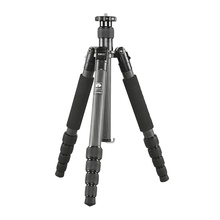 Sirui T-1205X Skilled Tripod Stand For SLR Cameras T1205X Carbon Fiber Mild weight Helpful Journey Extendable Leg Strap Bag