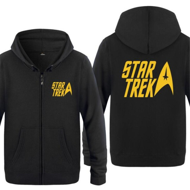 e7289074f25 Mens Hoodie Star trek Logo Printed Hoodies Men Cotton Fleece Zipper Jacket  Coat Skate Sweatshirt Hip Hop Moletons Masculino Hot