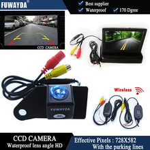 FUWAYDA Wireless Color CCD Chip Car Rear View Camera for Mitsubishi ASX RVR/Outlander Sport + 4.3 Inch foldable LCD TFT Monitor