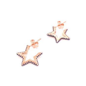 Aretes en forma de estrella sencillos hechos a mano de Plata de Ley 925 para mujer Brincos de gota femenino 2019 geométricos