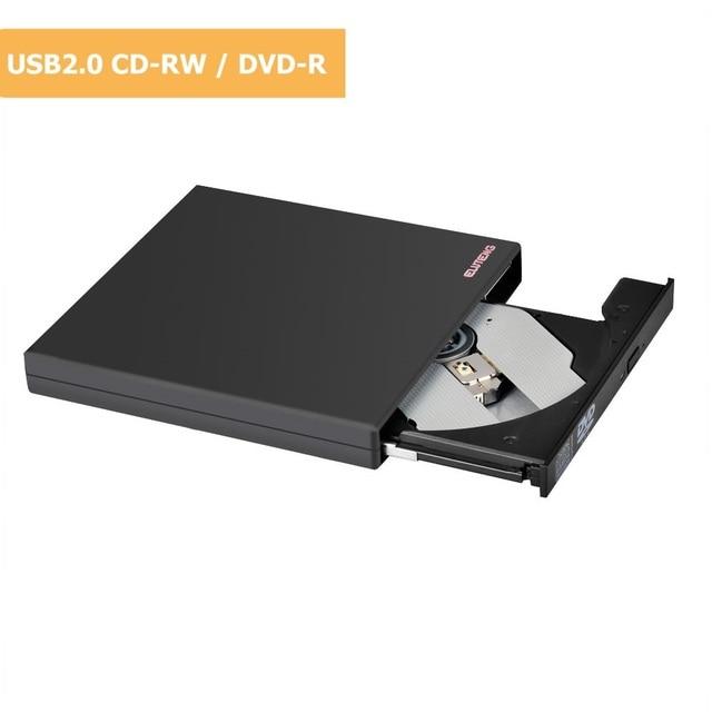 ELUTENG Unidade de CD DVD Player USB 2.0 CD-RW Externo Slim DVD-ROM 8x/CD-ROM 24x/24x CD-R Velocidade Alimentado Por USB Drive Combo DVD