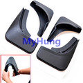 Car mudguard fender splash guards mud flaps for Ford Fiesta hatchback  2012 2013 2014 Soft plastic 4pcs per set