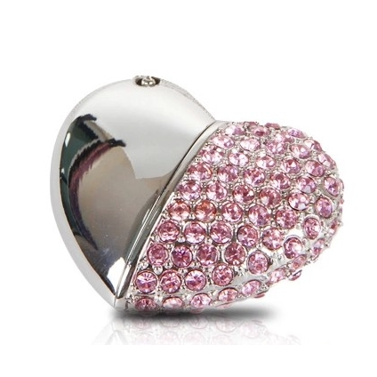 Luxury Heart Jewelry USB Flash Drive 128GB USB 3.0 High Speed Pen Drive 64GB Pendrive 512GB 32GB 16GB Memory Card Stick Gift