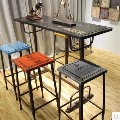American Country To Do The Old  Style Retro Nostalgia Industrial Bar Stool  Chair Highchair Seats