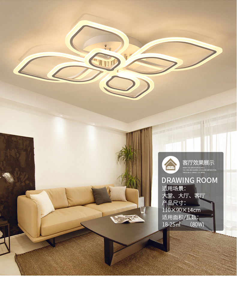 HTB1fmePXJjvK1RjSspiq6AEqXXap Modern Chandeliers Led to Living Room Bedroom Dining Room Acrylic Ceiling Lamp Chandelier Home Indoor Lighting