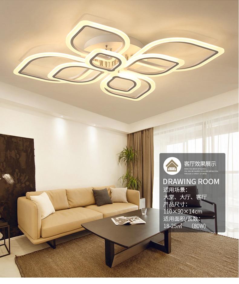 HTB1fmePXJjvK1RjSspiq6AEqXXap Modern Chandeliers Led to Living Room Bedroom Dining Room Acrylic Ceiling Lamp Chandelier Home Indoor Lighting