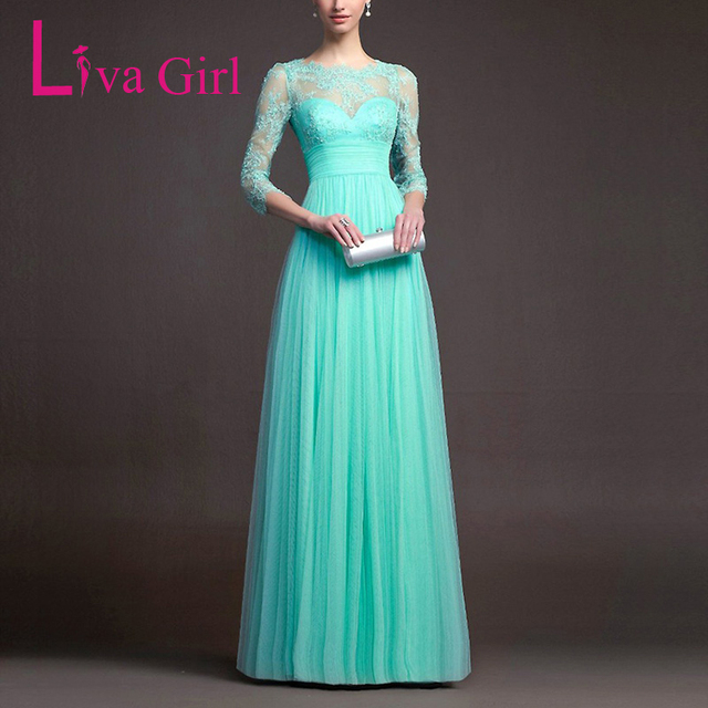 Liva Girl Formal Elegant Women Floor Length Evening Wedding Party ...