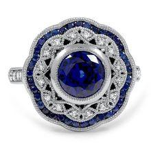Роскошные имитация Синий Sappire Имитация Алмазный Стерлингового Серебра 925 18 К Белый Позолоченные Обручальные Кольца Для Женщин