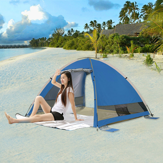 New high quality  Portable Outdoor 3-4 persons beach tent sun protection full automatic fishing tents free shipping .