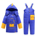 Baby Boys Girls Winter Down Coat Kids Clothes Children Warm Jackets DinosaureToddler Snowsuit Outerwear Coat+Pant Clothing Set