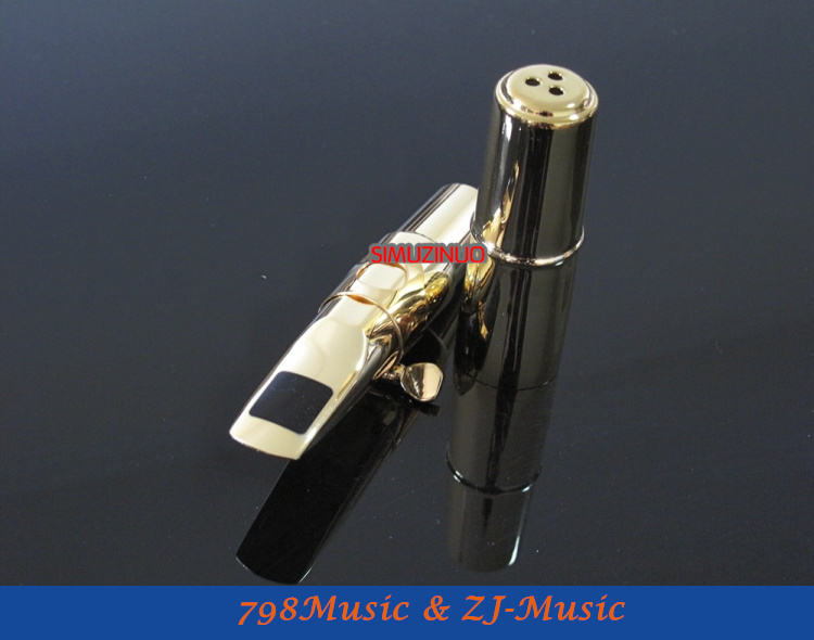 B3 Model 7#-Professional Metal Tenor Saxophone JAZZ Mouthpiece Gold Plated selmer professional tenor silver plated b saxophone mouthpiece metal tenor sax mouthpiece size 5 9 boquilha jazz music