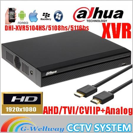 New Dahua mutil-language XVR video recorder DH-XVR5104HS/DH-XVR5108HS/DH-XVR5116HS 1080P Support HDCVI/ AHD/TVI/CVBS/IP Camera