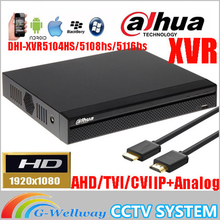 New Dahua mutil-language XVR video recorder DH-XVR5104HS/DH-XVR5108HS/DH-XVR5116HS 1080P Support HDCVI/ AHD/TVI/CVBS/IP Camera