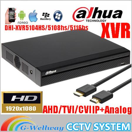 ahua mutil-language XVR video recorder DH-XVR5104HS/DH-XVR5108HS/DH-XVR5116HS 1080P Support HDCVI/ AHD/TVI/CVBS/IP Camera dahua xvr video recorder 16ch 1080p replace nvr and dvr dh xvr7216an p2p support hdcvi ahd tvi cvbs ip 1u digital video recor