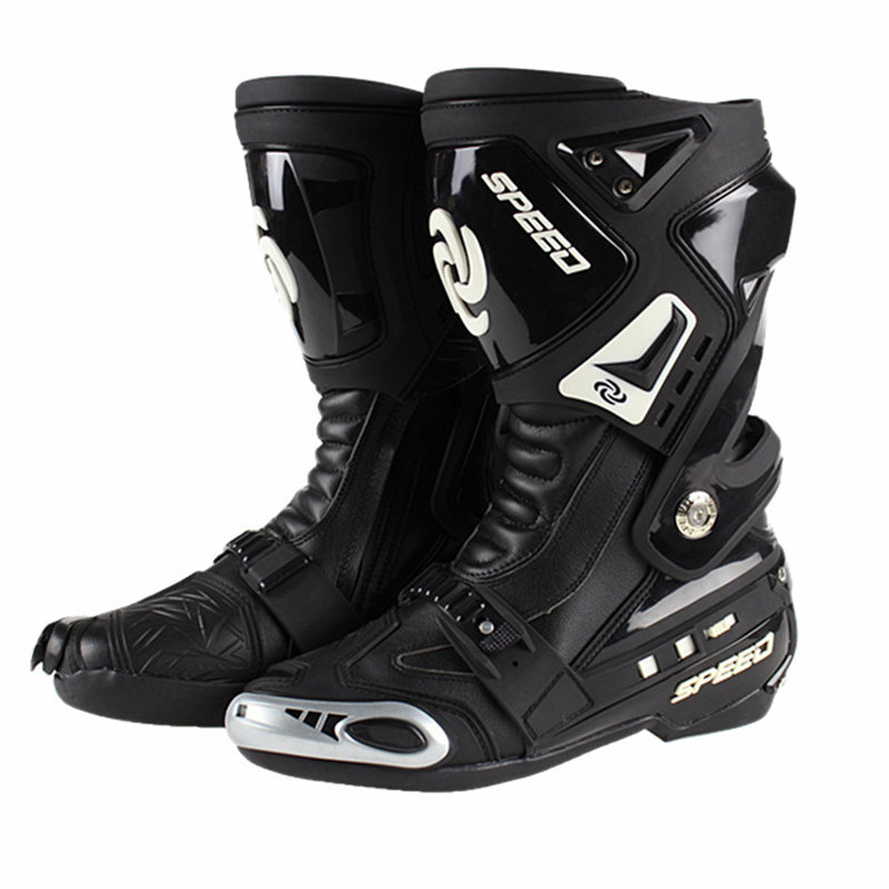 Motocross Breathable Racing Boots Gear Shift Non slip Adjust Loose Motorcycle boot Black RED WHITE