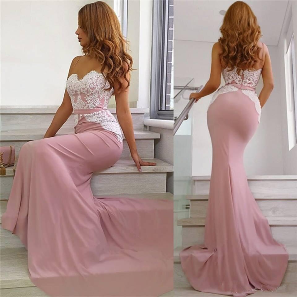 Modest Mermaid   Prom     Dresses   Long 2019 vestidos de fiesta largos elegantes de gala Open Back Formal Women Evening Gowns
