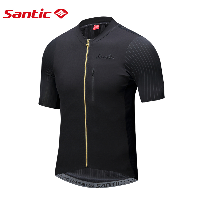 SANTIC 2018 New Cycling Jerseys Sport Clothe Breathable Reflective Anti-sweat Short Sleeve Male Riding MTB Bicycle Bike Clothing цена