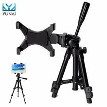 YUNAI Universal Aluminium Alloy Adjustable Foldable Tripod Tablet Holder Stand Bracket New Tablet Stand Mount Holder For iPad