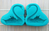 Wholesale 5 Set Lot Large A Pair Swans Shape Cake Fondant Silicone Decorating Tools Baking Molds