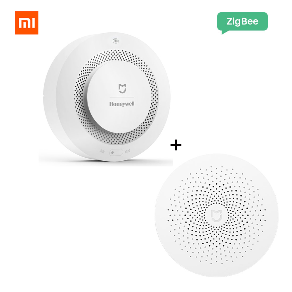 Xiaomi Mijia Honeywell Fire Alarm Gas Detector Smoke Sensor Work With Multifunction Gateway 2 Smart Home Security Mi APP Control