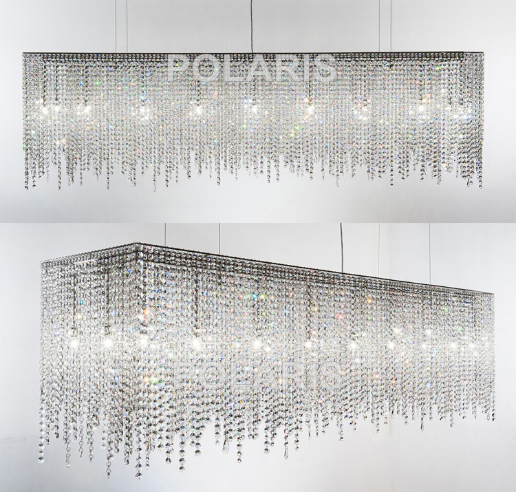 Image 4 - Contemporary Modern Luxury LED K9 Crystal Chandelier Lighting Hanging Lights / Lamps for Villa Dining Room and Hotel Decoration-in Chandeliers from Lights & Lighting
