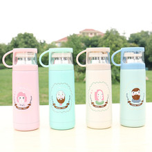 Need You Small Student Water Drinkware Stainless Steel Thermos Flask Mini In Hand Cute Drinking Outdoor Kettle with Teacup