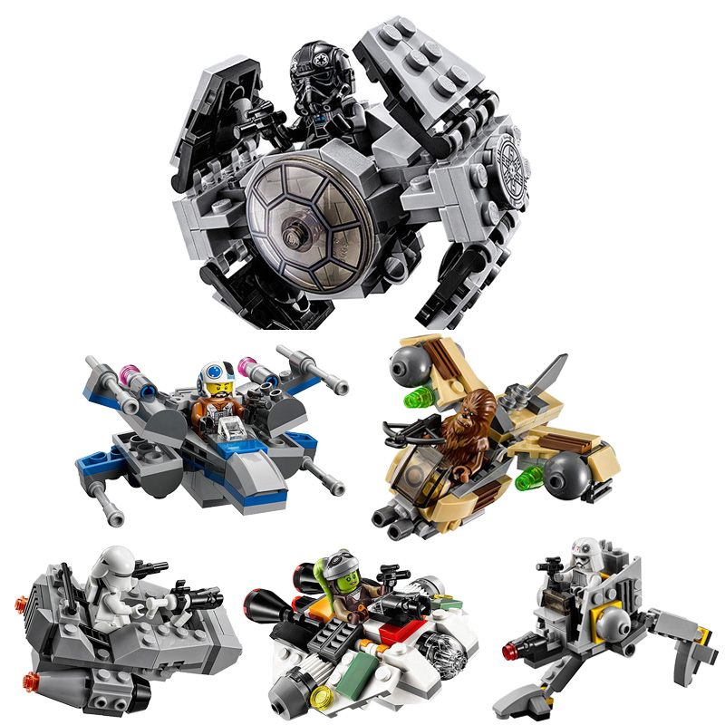 Star Space Wars Microfighters Building Blocks Sets Clone Micro Fighter Bricks Toys Compatible Starwars 2018 NEW