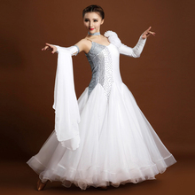 New Ballroom dance costumes sexy spandex single sleeves ballroom dance dress for women ballroom dance competition dresses