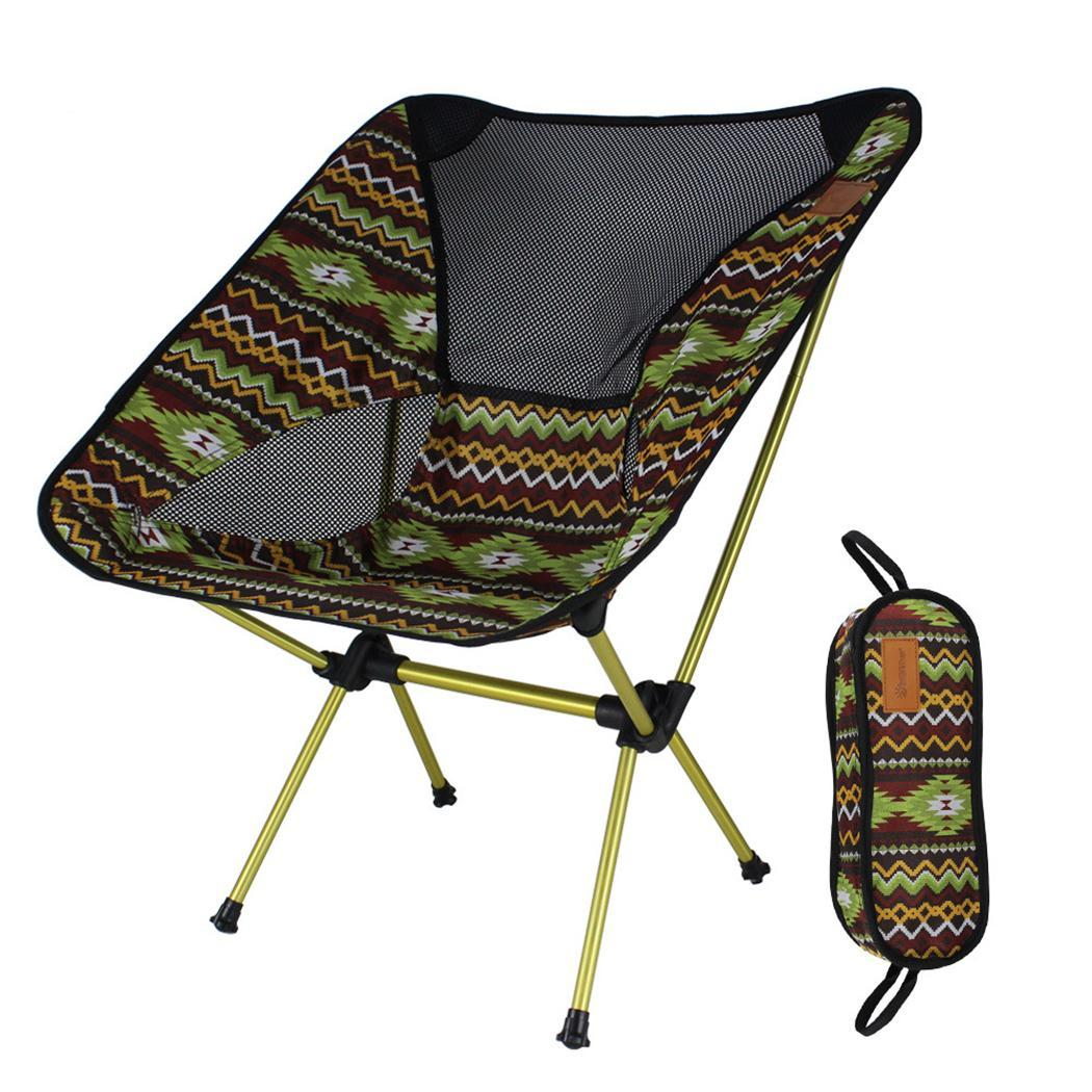 Durable Strong Portable Print Folding Chair Outdoor 150kg Chair Outdoor, Home Green, Red, Yellow, Pink