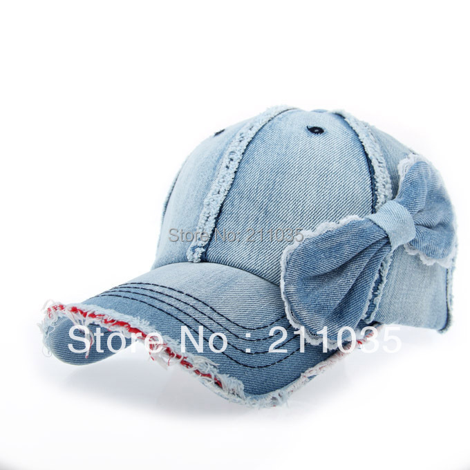 Hot selling Autumn winter male women denim water wash bow sus