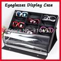 18D самостоятельного прозрачная крышка очки витрине, eyeglass display box, чемодан, для проведения 18 шт. солнцезащитных очков