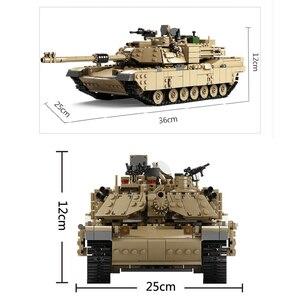 Image 3 - קאזי חדש נושא טנק אבני בניין 1463pcs אבני בניין M1A2 אברמס MBT KY10000 1 שינוי 2 צעצוע טנק דגמים צעצועים לילדים