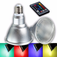 20 Вт Par30 RGB Светодиодный лампочки E27 затемнения ИК-пульта дистанционного управления красочные лампочка 85-265 В