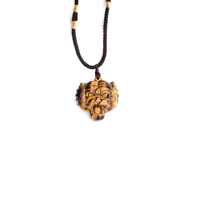 Wholesales 100 natural tigers eye gem hand carved tiger head wholesales 100 natural tigers eye gem hand carved tiger head pendant free necklace gold mozeypictures Gallery