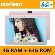 Envío libre 10 pulgadas Tablet PC Octa Core 4 GB RAM 64 GB ROM Dual Tarjetas SIM Android 6.0 GPS Tablet PC 10 10.1 + regalos