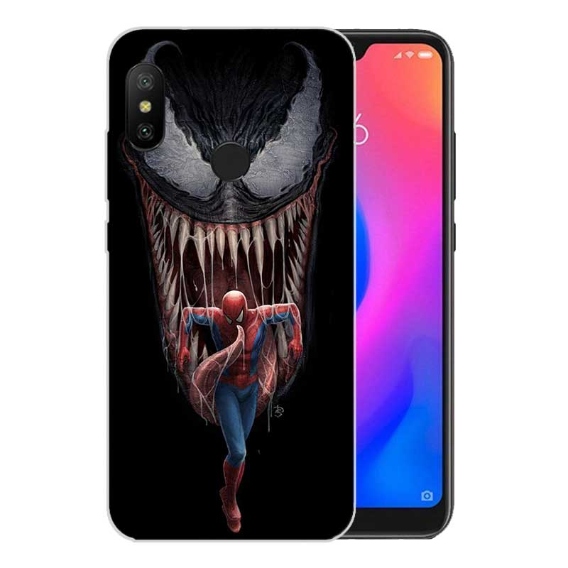 Printed Silicone Case For Xiaomi Xioami Redmi Note 7 3 4 4A 4X 5 5A 5 Plus 6 Pro 6A S2 Heart Cover Venom Marvel in Fitted Cases from Cellphones Telecommunications